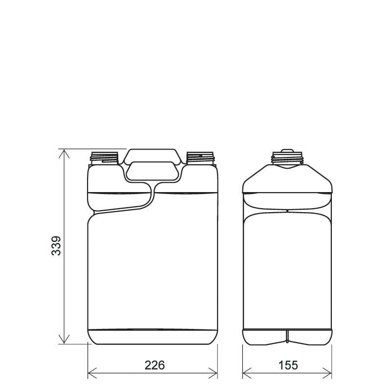 Twin-pack 7,5 lt + 750 ml HDPE/COEX, neck DIN50TI, style MADAGASCAR (Draft)