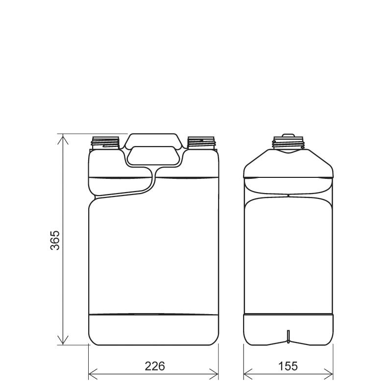 Twin-pack 8,5 lt + 750 ml HDPE/COEX, neck DIN50TI, style MADAGASCAR (Draft)