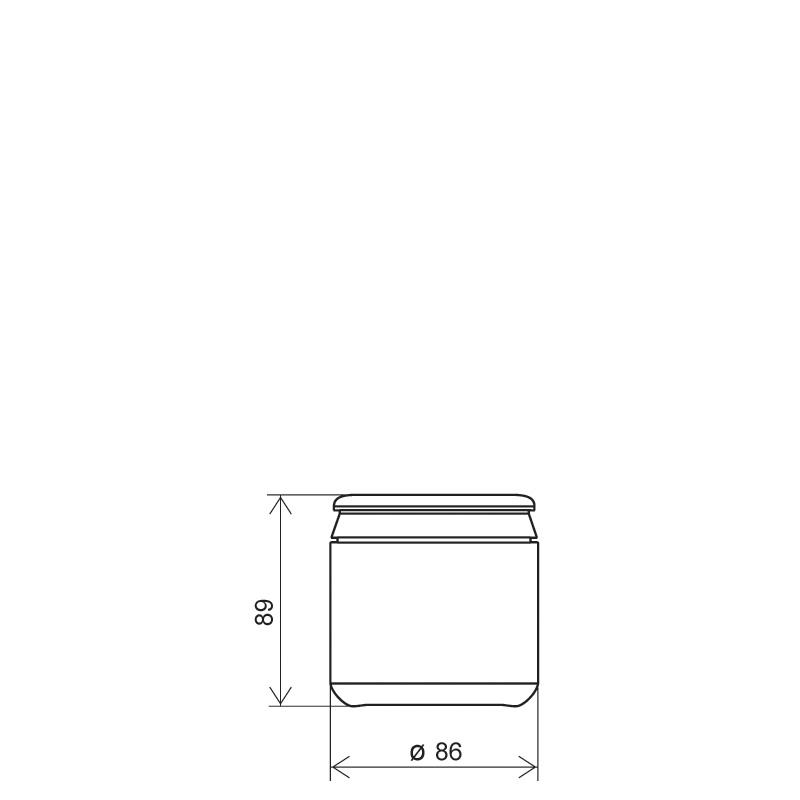 Contenitore cilindrico 440 ml HDPE, collo snap-on, linea AMIRANTES (Disegno)